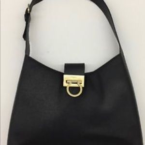 SALVATORE FERRAGAMO,  leather hand bag.